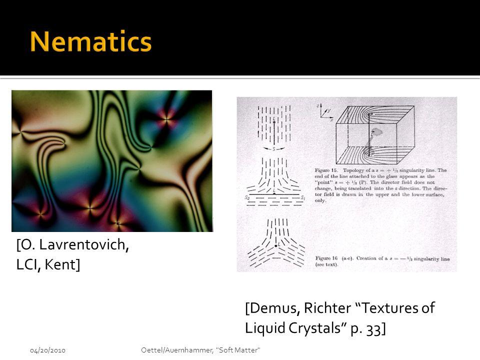 Nematics [O. Lavrentovich, LCI, Kent]